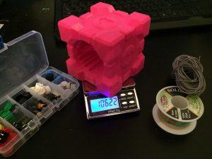 Companion_Cube_Bluetooth_Boombox_Weight